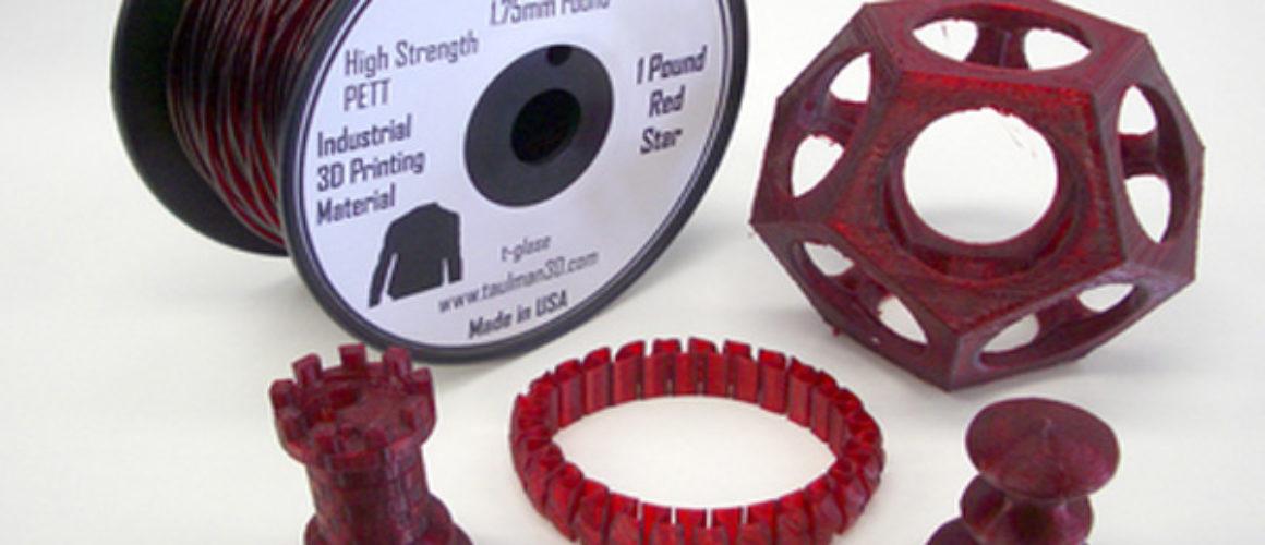 Taulman-T-Glase - Red - 1.75mm  *** 1lb spool ***